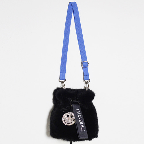 fake fur bucket bag